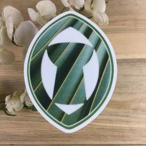 """5"""" Palm Leaves Latte in Sling Stone Dope Decal"""