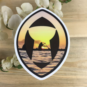 Paddler in Latte Sling Stone Dope Decal (Guam and CNMI)