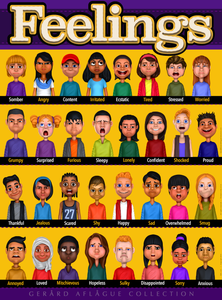 Feelings or Emotions Classroom Poster - 18x24