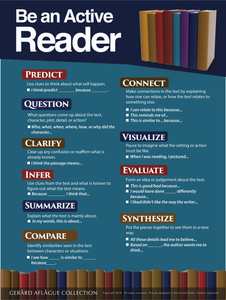 Be an Active Reader (Reader Strategies) - 18x24 Inches [English, language arts, reading]