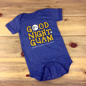 Good Night Guam Blue Baby Onesies