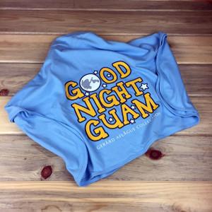 Good Night Guam Blue Baby Blanket
