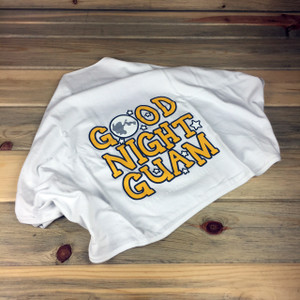 Good Night Guam White Baby Blanket