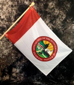 Hagatna (Capital City)  Village Flag, Guam - 2x3 Foot (Flagpole not included)
