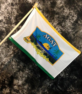 Agat Village Flag, Guam - 2x3 Foot (Flagpole not included)