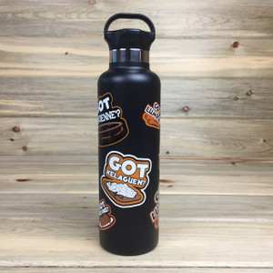 Chamorro-Themed Stainless Black Thermos Repin' Guam and CNMI - 25 oz
