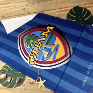 "Modern Guam Seal Towel - 30""H x 60""W"