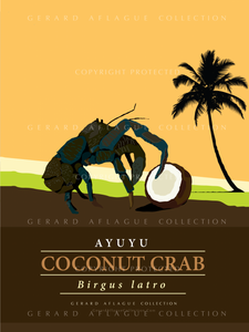 Coconut Crab - Ayuyu - Poster Illustration - 18x24 inches