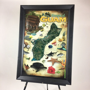 Steal Deal: Tropical Guam Map Poster - 24x36
