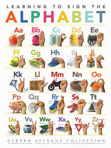 Sign Language Alphabet (ABC) Poster for Children - 18x24