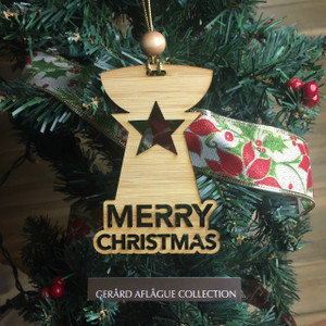 New! CNMI and Guam Star Christmas Tree Ornament (Chamorro)