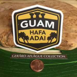 Guam Hafa Adai Latte Palm Dope Decal