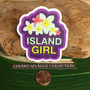 Plumeria Island Girl Dope Decal