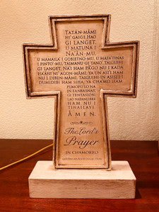 Premium Handcrafted Chamorro Lord's Prayer Weathered Cross