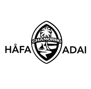 Hafa Adai Chamorro Guam Seal Decal (Choose Color) 14 Inches wide