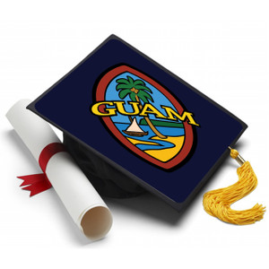 Modern Guam Seal Graduation Cap Topper