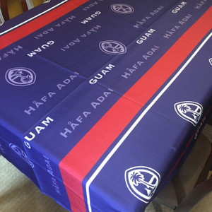Guam Motif Polyester Cloth Table Cover - 70x90 Inches