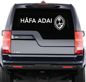 Mega Tribal Seal and Hafa Adai Decal (Choose color)