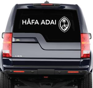 Mega Tribal Seal and Hafa Adai Decal (Choose color)