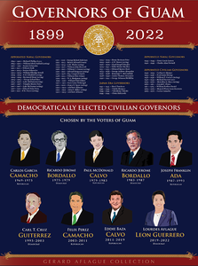 Governors of Guam Poster - 18x24