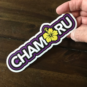 Hibiscus Chamorro Dope Decals - 4""