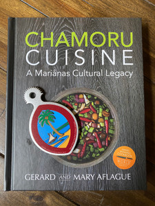 CHAMORU CUISINE - Guam and CNMI Cookbook with Handheld Guam Seal Coconut Grater Gift Set