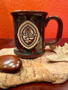 Tribal Guam Seal Deep Brown Coffee and Tea Mug