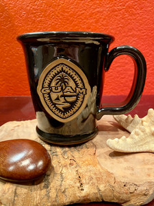 Tribal Guam Seal Black Coffee and Tea Mug