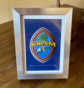 Modern Guam Seal in Frame