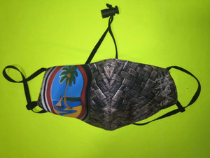 Modern Guam Seal Weaved Motif Mask