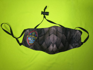Sketched Guam Seal Weaved Motif Face Mask