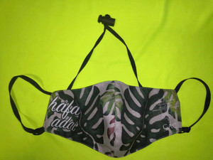Hafa Adai Tropical Leaf Motif Face Mask