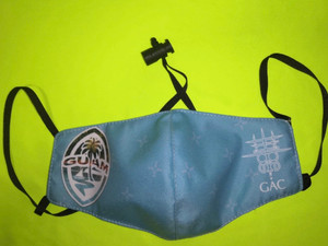 Ocean Blue Modern Guam Seal Face Mask