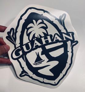"11"" Guam (Guahan) Bamboo Motif Vinyl Decal"