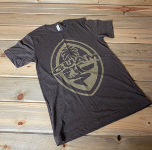 Modern Guam Seal Coffee Brown Triblend Soft Tee