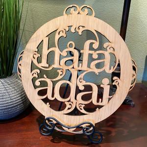 """15"""" Hafa Adai Bamboo Wood Decor"""