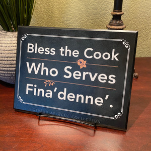 "Guam/CNMI - Bless the Cook Who Serves Fina'denne' - Fine-Art Plaque - 8.4"" x 10.85"""