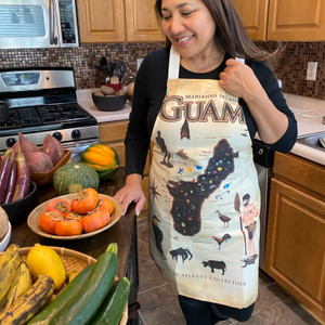 Guam Map Polyester/Cotton Fullsize Apron