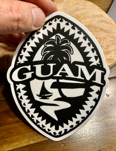"Tribal Guam Seal Dope Decal - 5"" Tall"