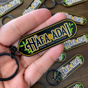 Hafa Adai Midnight Black Die-Struck Key Chain