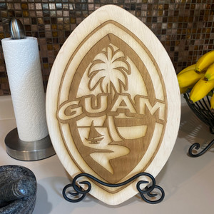 Modern Guam Seal Chopping Board w/Stand