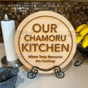 Our Chamoru Kitchen Chopping Board w/Stand