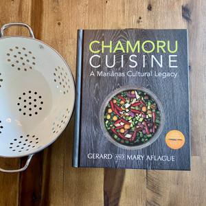 CHAMORU CUISINE Cookbook with Colander Gift Set