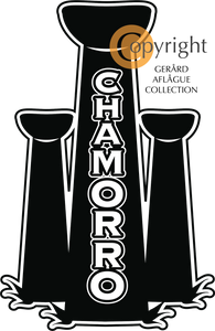 Chamorro in Latte Stones Dope Decal Sticker (Guam, Rota, Tinian, and Saipan)