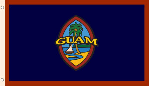 This is a Guam flag with a remasterd modern Guam seal.