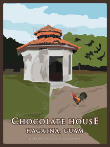 Chocolate House Illustration and Poster - Hagatna, Guam