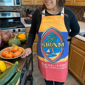 Modern Guam Seal Polyester/Cotton Full-Sized Apron