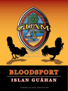 Cockfighting - Modern Guam Seal Illustration