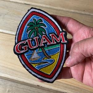 "100% Embroidered 5"" Modern Guam Seal Patch"