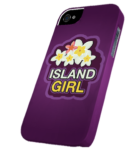 Island Girl w/Plumeria Cover for iPhone 5 and 5s - Right View